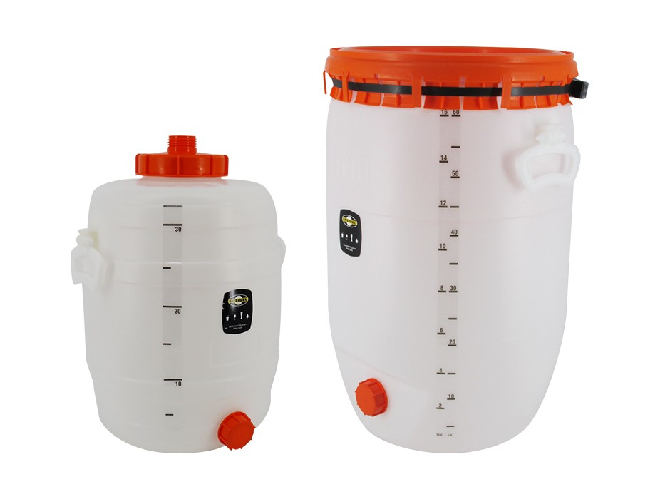 Litre scale for beverage barrel