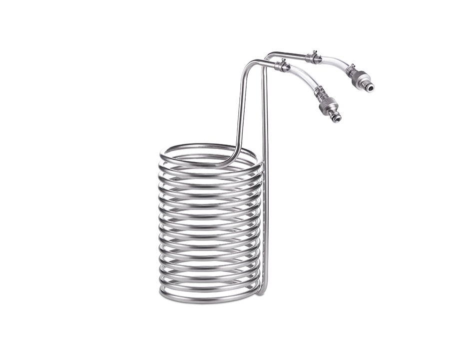 Stainless steel wort chiller for 20-litre Braumeister