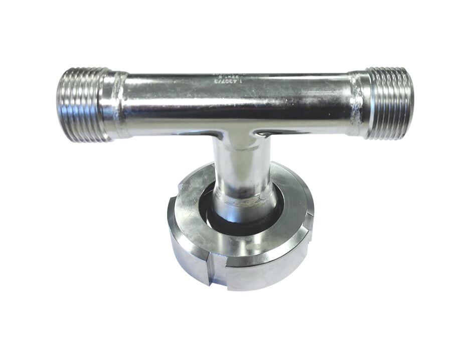 T-Adapterstück für Edelstahl-Drucktank