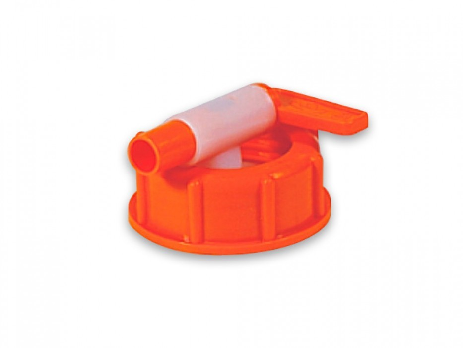 Plastic outlet valve with swivel nut nom. diam. 10