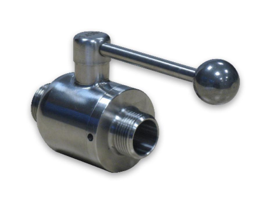 Stainless steel ball valve for FD fermentation tank