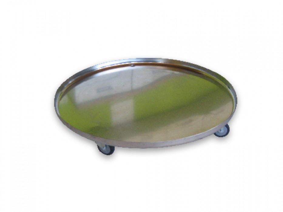 Stainless steel tray on castors for 200-litre Braumeister