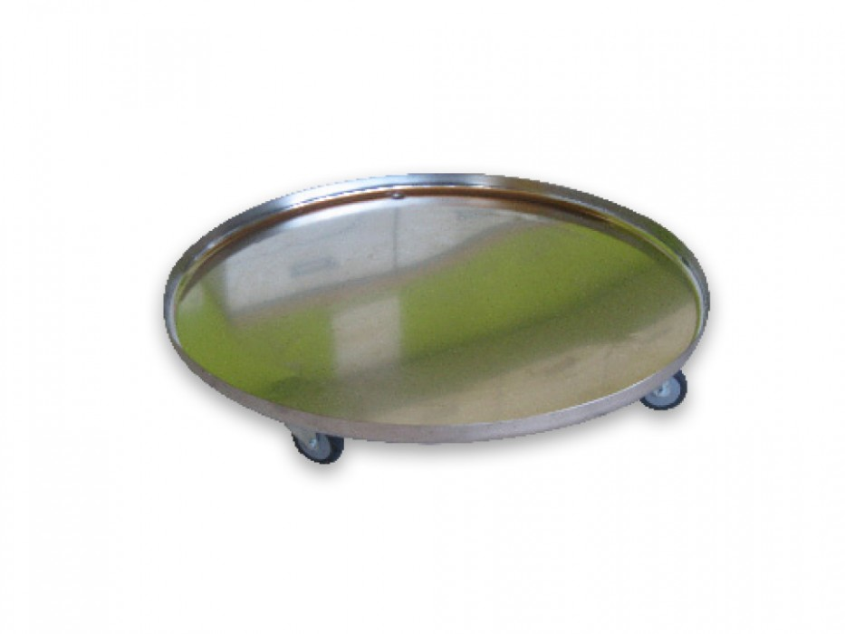 Stainless steel tray on castors for 500/ 1000-litre Braumeister