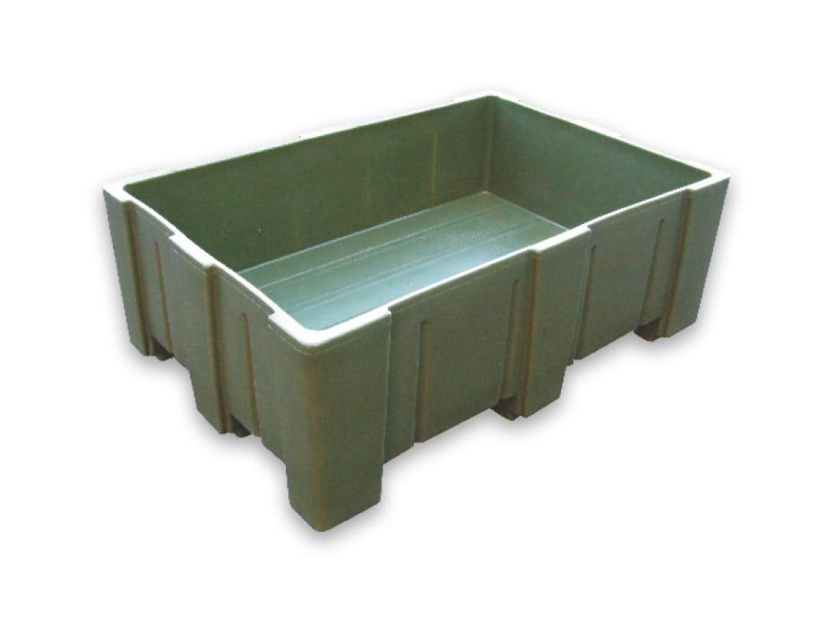 200-litre PE malt pan with castors