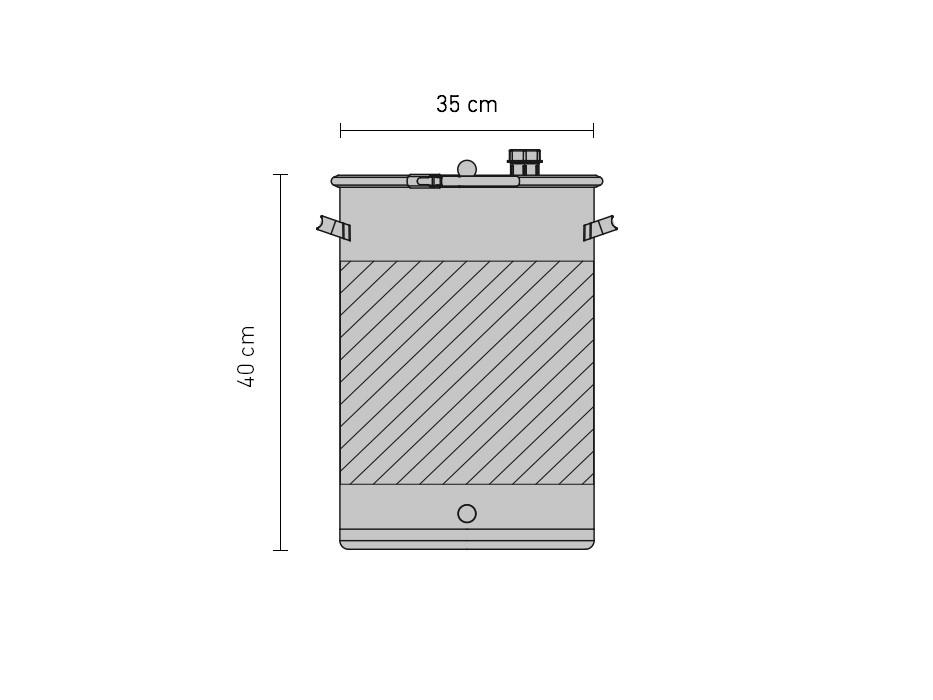 Set »Gär- und Lagerfass UF mit Doppelmantel 30 Liter«