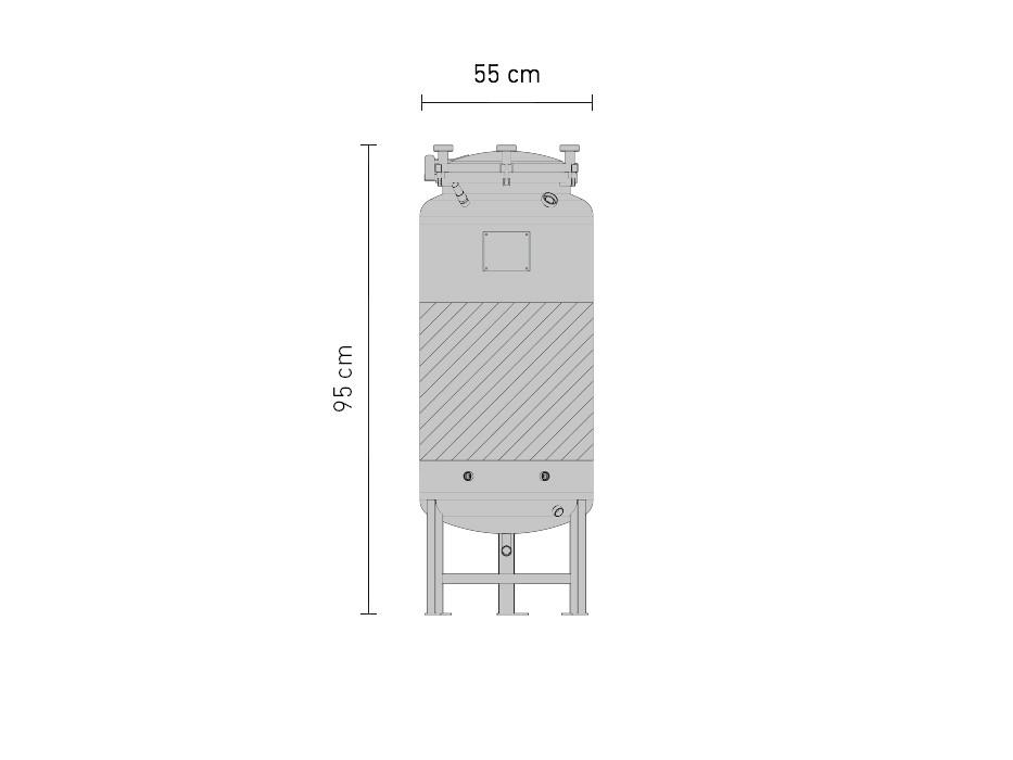 Set »Edelstahl-Drucktank 2.5B 120 Liter«