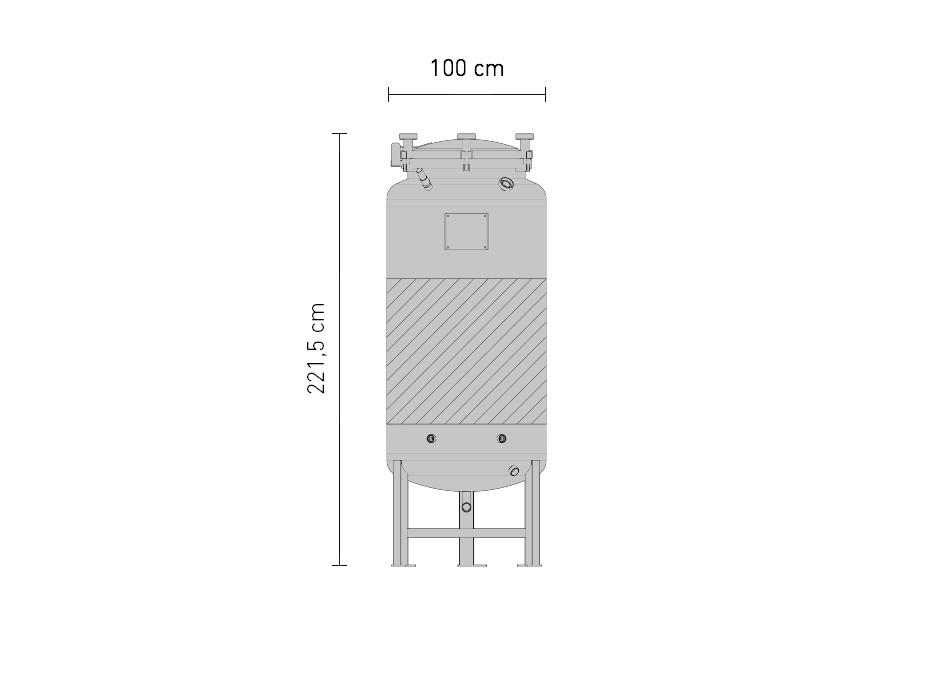 Set »Edelstahl-Drucktank 2.5B 1150 Liter«