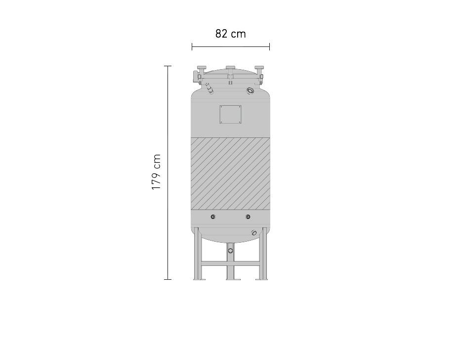 Set »Edelstahl-Drucktank 2.5B 625 Liter«