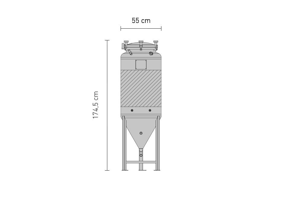 Set »Edelstahl-Drucktank 1.2B ZKG 240 Liter«