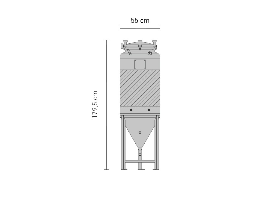 Set »Edelstahl-Drucktank 2.5B ZKG 240 Liter«