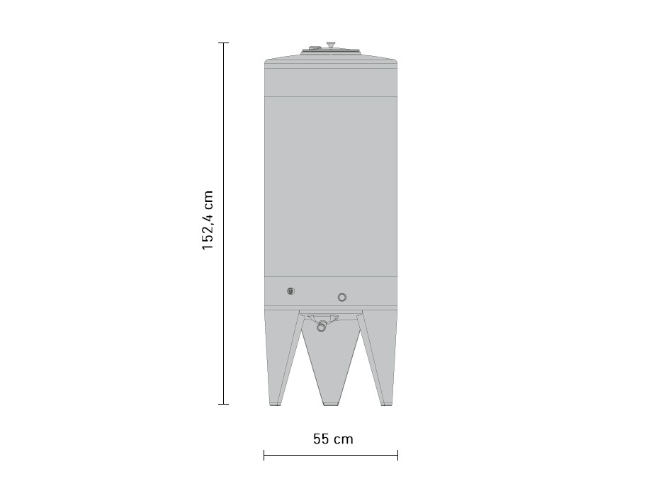 240-litre stainless steel fermentation tank