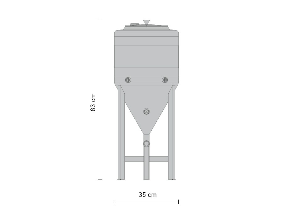 30-litre conical stainless steel fermentation tank