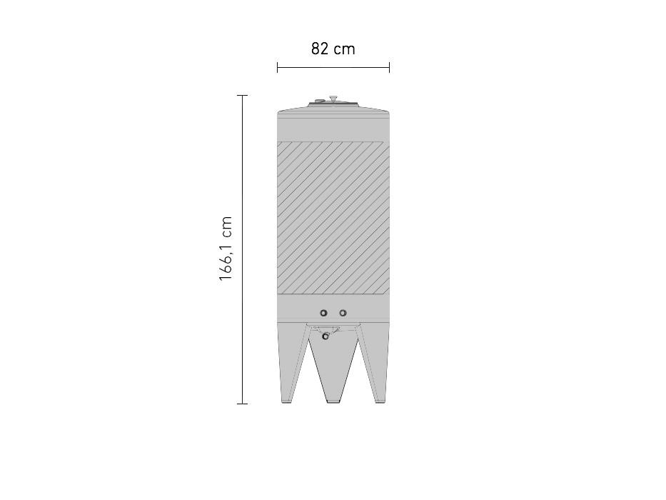 Edelstahl-Gärtank 625 Liter