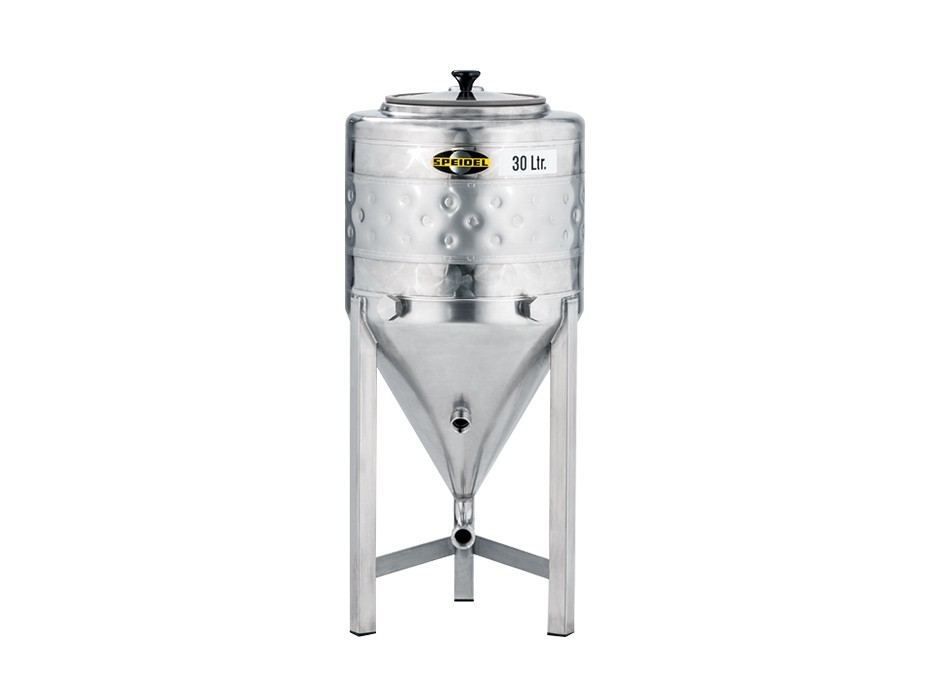 small conical stainless steel fermentation tank (non-pressure)