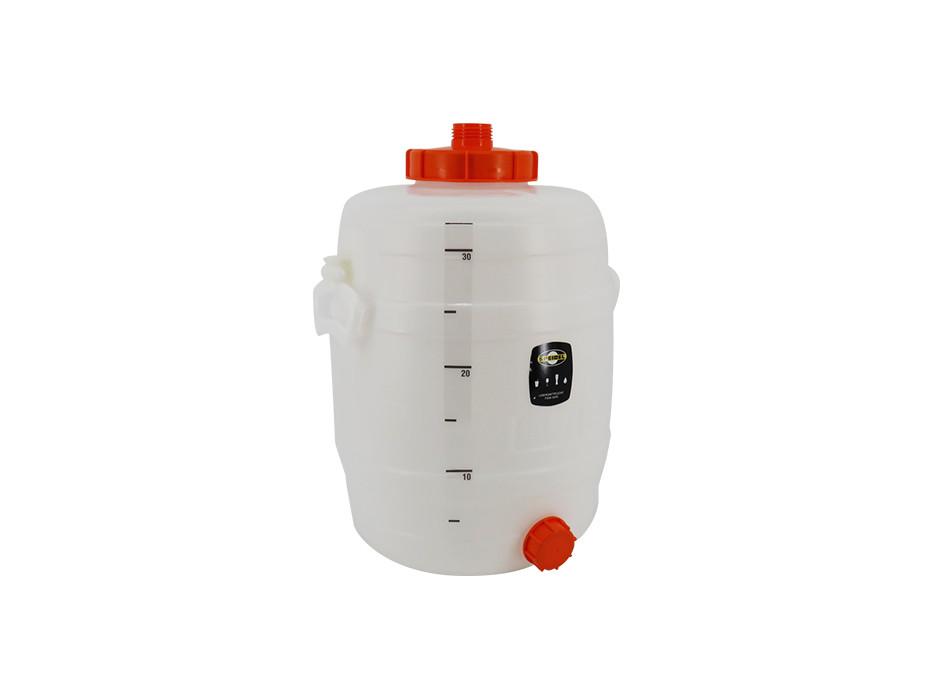 Litre scale for 30-litre beverage barrel