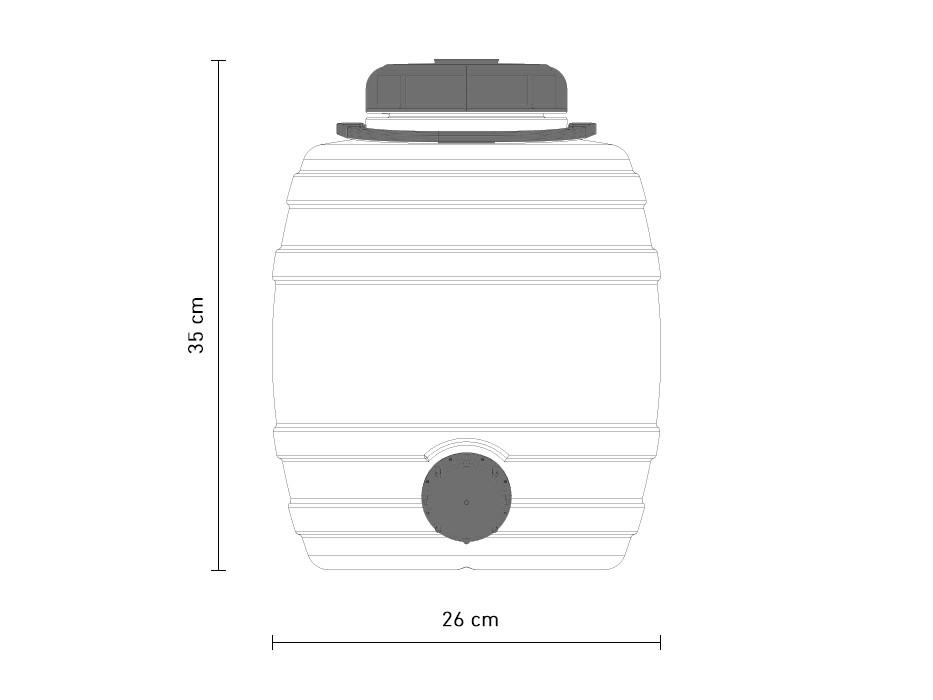 12-litre fermenting vessel