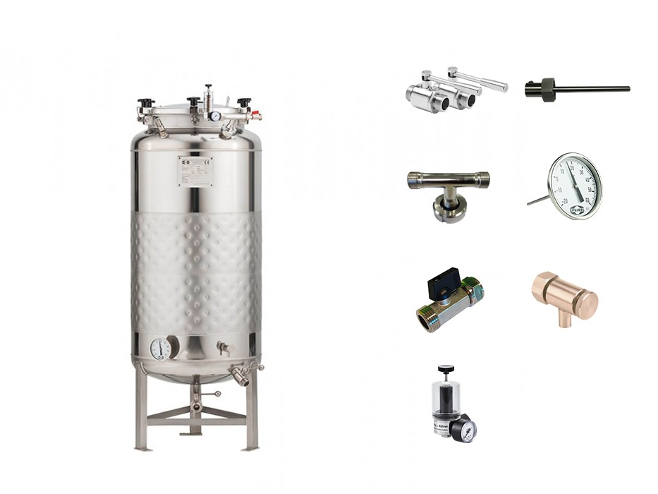 »Stainless steel pressure tank 2.5B« KIT