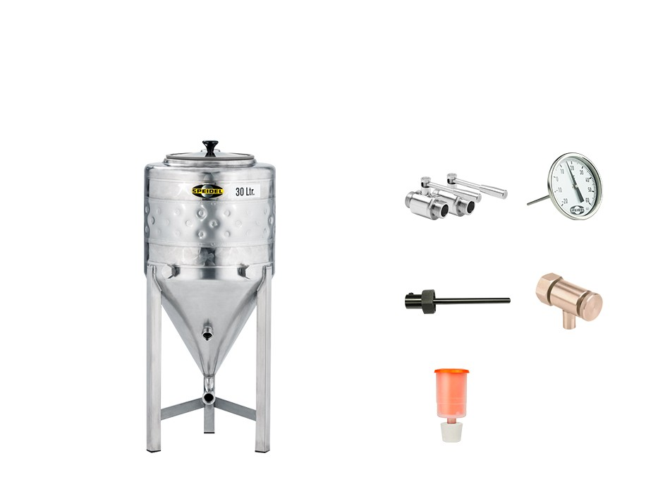 Set »Edelstahl-Konus-Gärtank 30 Liter«