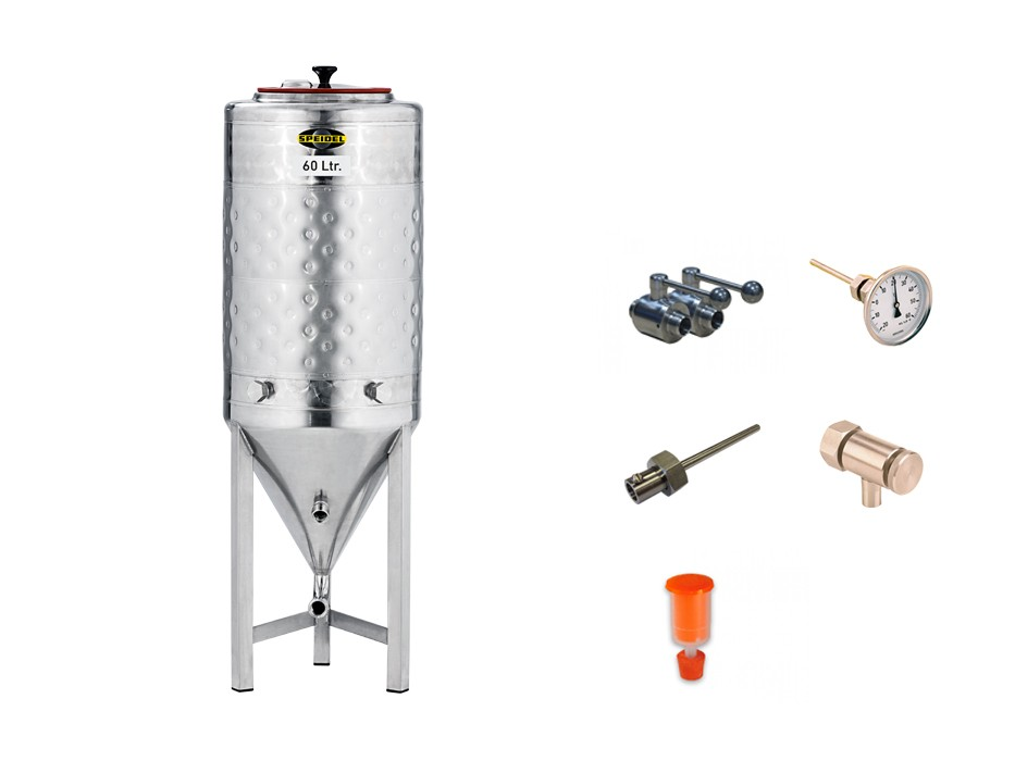 »Conical stainless steel fermentation tank« KIT