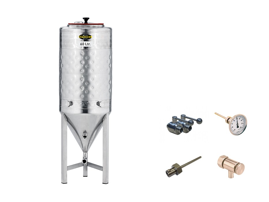 »60-litre conical stainless steel fermentation tank« KIT