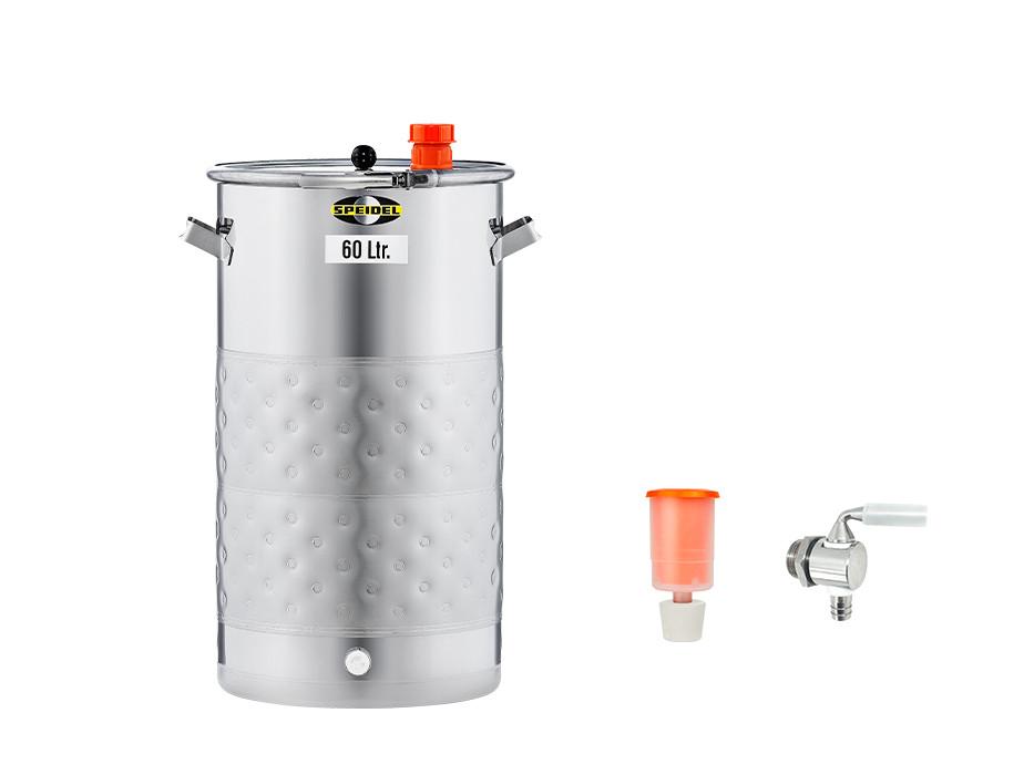 Set »Gär- und Lagerfass UF mit Doppelmantel 60 Liter«