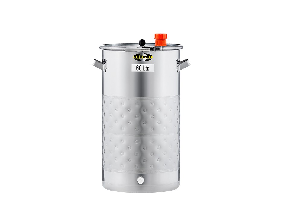 Universal stainless steel keg with double jacket 60-litres